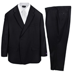FLAIR STOUT PLAIN BLACK SUIT-suits-BIGGUY.COM.AU