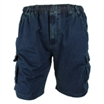 BRONCO LIGHT STRETCH DENIM CARGO SHORT-casual shorts-BIGGUY.COM.AU