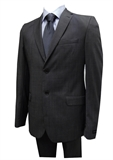 GEOFFREY BEENE CHARCOAL NAILHEAD SUIT-sale clearance-BIGGUY.COM.AU